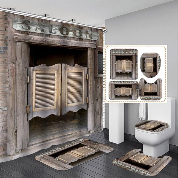 Bath, Bathroom, bathroomdecor, retroshowercurtain