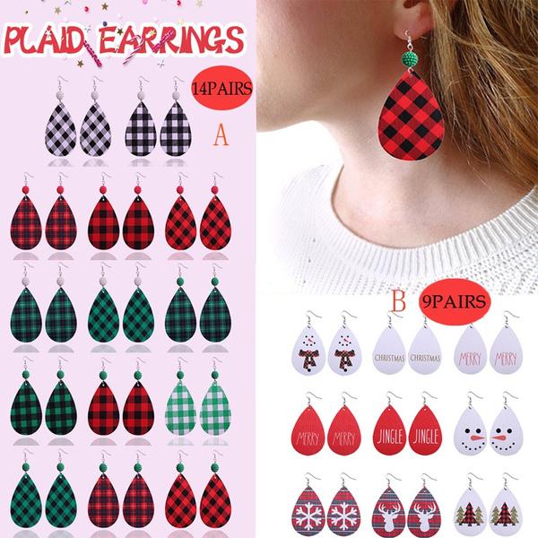 Dangle Earring, Jewelry, vintage earrings, leather