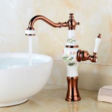 golden, Faucets, kitchendecoration, purecopperfaucet
