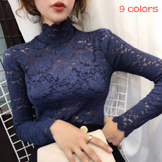blouse, collar slim, Fashion, Lace