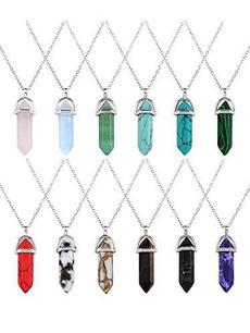 autolisted, quartz, Necklace, Bullet