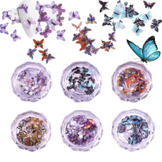 butterfly, Nails, Holographic, art