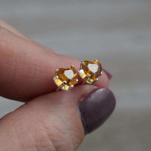 Heart, earrings jewelry, Silver Earrings, Stud Earring