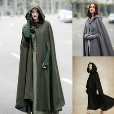 Goth, Fashion, women coat, wool coat