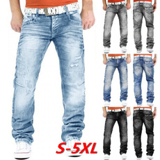middlewaistjean, men jeans, biker, Plus Size