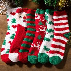 snowman, Head, Cotton Socks, Christmas