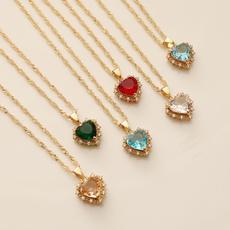 Party Necklace, DIAMOND, Chain, Rhinestone