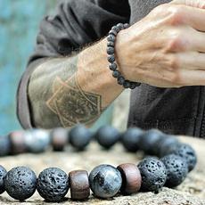 8MM, handmadebraceletsformen, Yoga, Joyería de pavo reales
