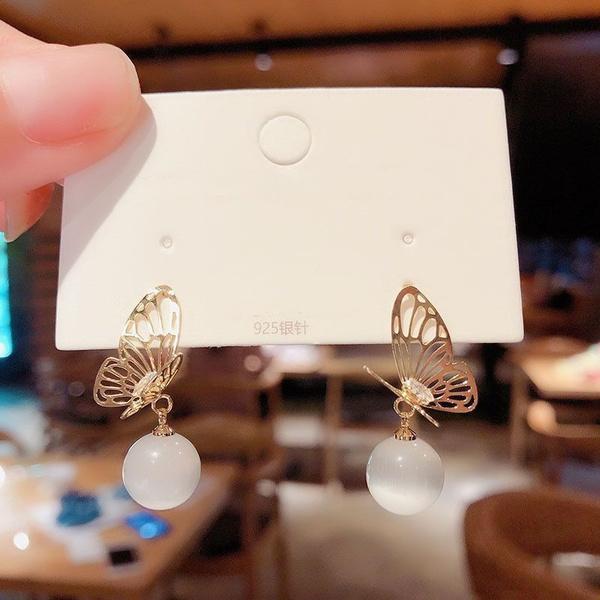 butterfly, Sterling, opalearring, 925 sterling silver