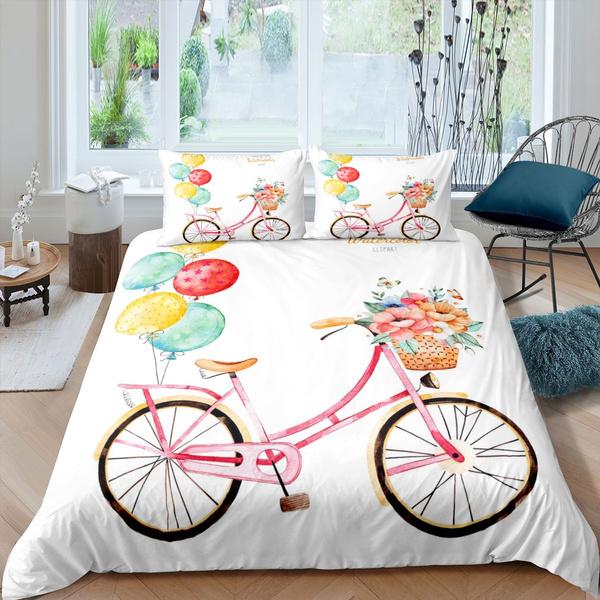 bettdecke, kidsduvetcover, Bicycle, Home Decor