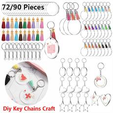 diykeychainskit, circledisc, Tassels, Key Chain