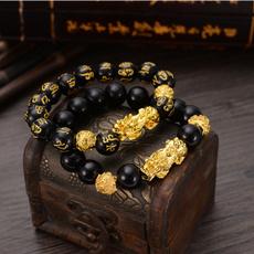 pixiu, goodluckwomenbracelet, Jewelry, gold