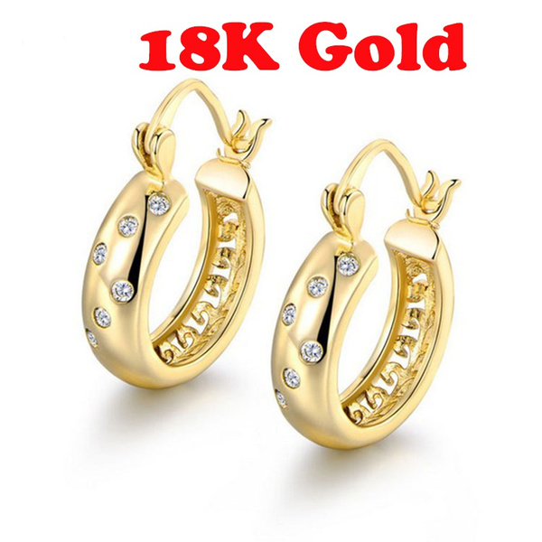 Cubic Zirconia, 18k gold, Jewelry, gold
