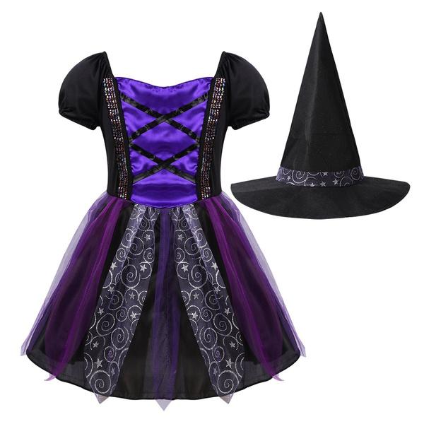 witchcosplay, short sleeve dress, Cosplay Costume, Halloween