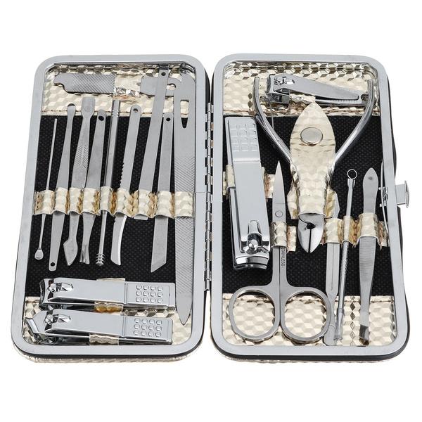 case, Steel, Manicure Pedicure Set, Beauty