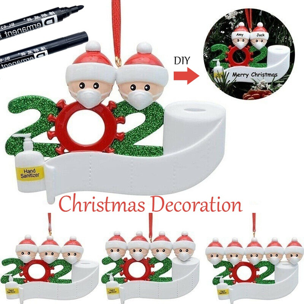 Personalized DIY Christmas Ornaments Hanging Family Name Xmas Ornament Decor