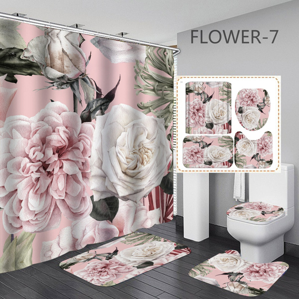 Shower, Shower Curtains, Bathroom, Plants