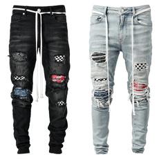 jeansformen, kneehole, rippedjean, Denim