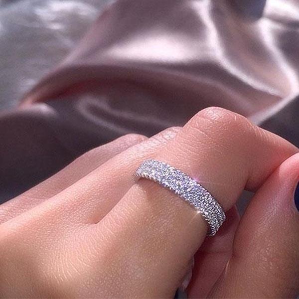 Sterling, crystal ring, Infinity, zirconring