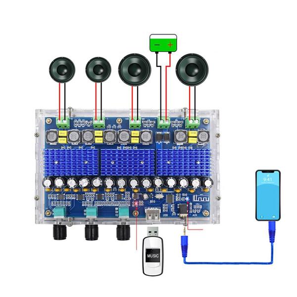 Bluetooth, tpa3116d2, Amplifier, xha310