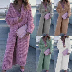 Fashion, women coat, sweater coat, Long sleeved