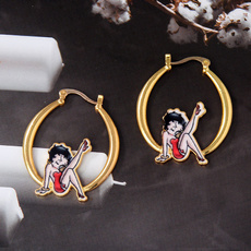 cute, Fashion, gold, wedding earrings