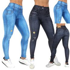 Blues, Women, Leggings, trousers