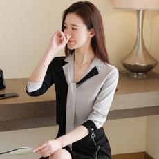 Plus Size, long sleeved shirt, vnecktop, chiffon