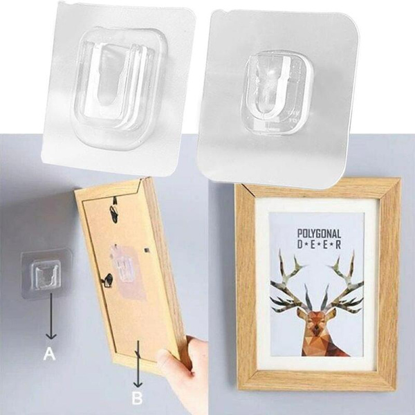 Double-Sided Adhesive Wall Hooks Hanger   Suction Cup Sucker Wall Storage Holder