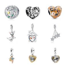 Sterling, Heart, charms for pandora bracelets, Fashion