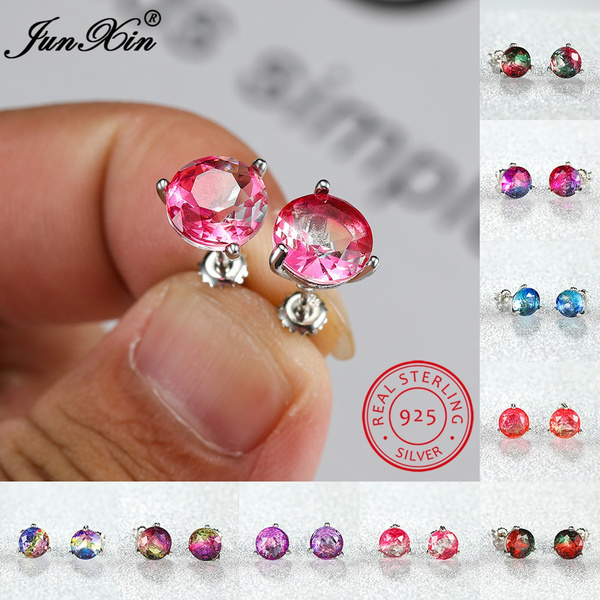 Sterling, 8MM, Gemstone Earrings, Stud Earring
