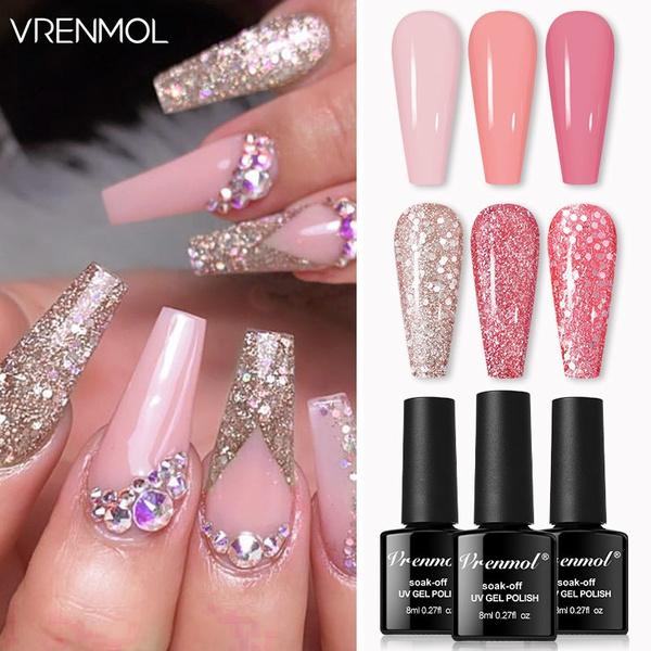 pink, art, Beauty, Nail Polish