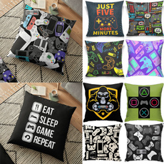 pillowcover18x18, gamecontrollercushioncover, letterpillowcase, gamingpillowcover
