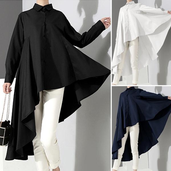 blouse, shirttop, Plus size top, asymmetricalhemtop