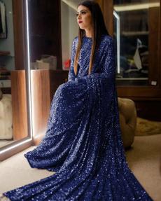 Blues, saree, Designers, weddingwearsaree