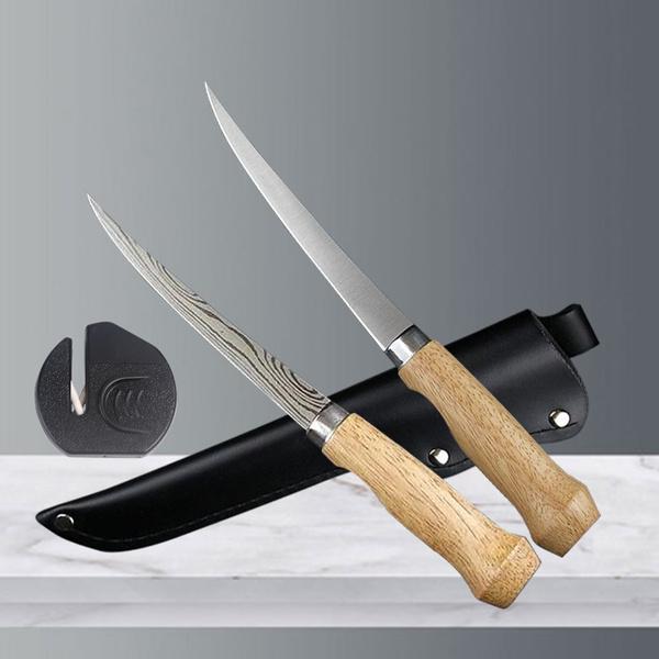 Sushi, damascusknife, filletknife, fishingknife