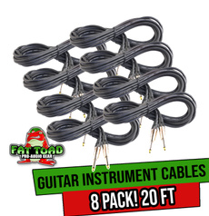 instrumentcable, patchcord, Bass, guitarcablepack