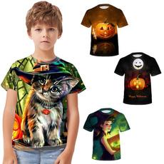 Boy, Summer, Tops, Halloween