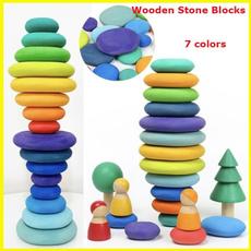 rainbow, Toy, woodenstoneblock, Children
