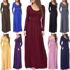 Plus Size, pleated dress, Sleeve, Long Sleeve