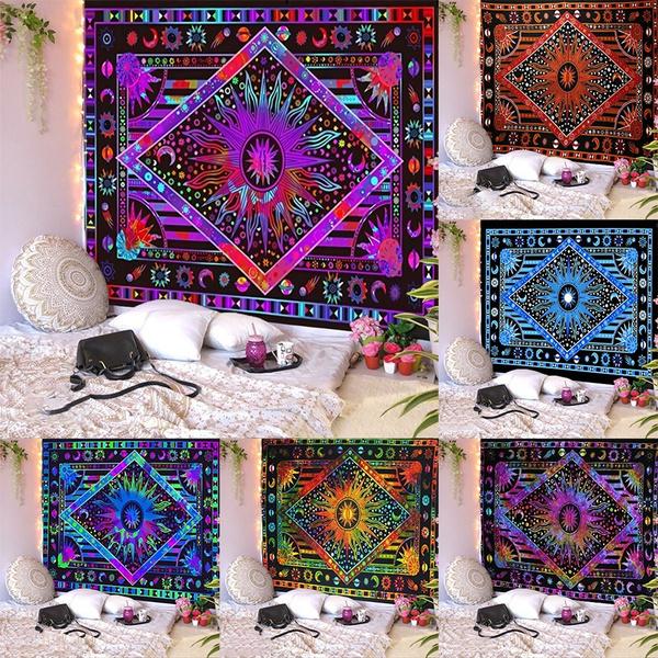 Blues, Wall Mount, mandalatapestry, Colorful