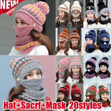 Fashion, crochethat, Masks, knitted hat