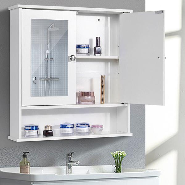2020 New 2 Shelf Modern Bathroom Wall, Modern Bathroom Wall Cabinet
