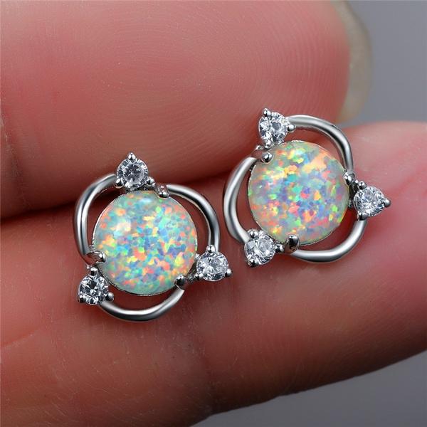 cute, opalearring, Jewelry, Stud Earring
