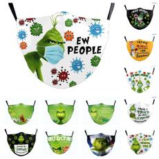 Funny, Christmas, printedmask, masksforwomen