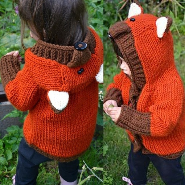 girlscoat, hooded sweater, kids clothes, Winter