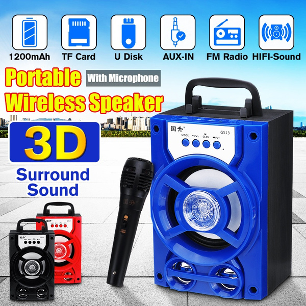 bluetoothmicrophone, led, Speaker Systems, bluetooth speaker