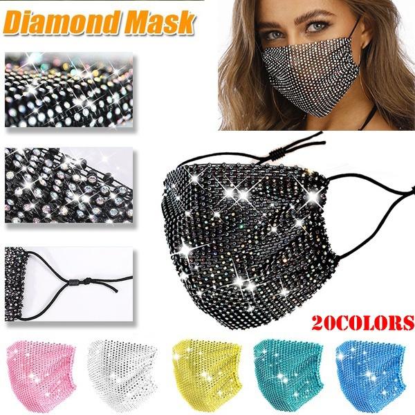 maskforface, DIAMOND, glittermask, crystalmask