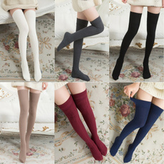 Cotton Socks, kneehighsock, Women Leggings, highsock
