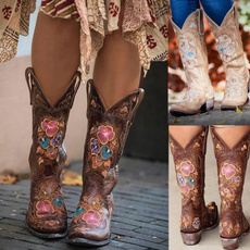 fashion women, Womens Boots, Leather Boots, Cowboy